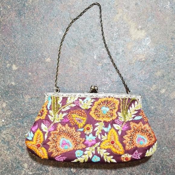 Santi Handbags - Santi Evening Bag Embroidery Beading